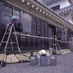 チャコールペイント 川之江城 施工