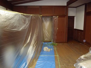 施工中の室内写真