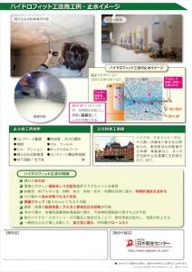 ハイドロフィット工法カタログ3ページ