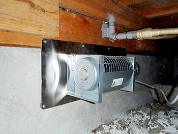 排気型換気扇(スーパークリーン2)施工例