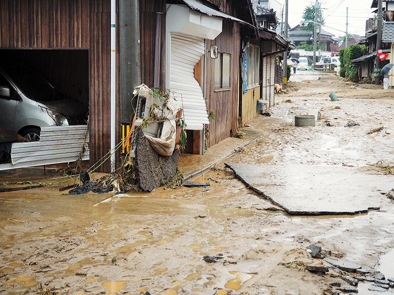 多くの住宅が床上・床下浸水の被害に合った