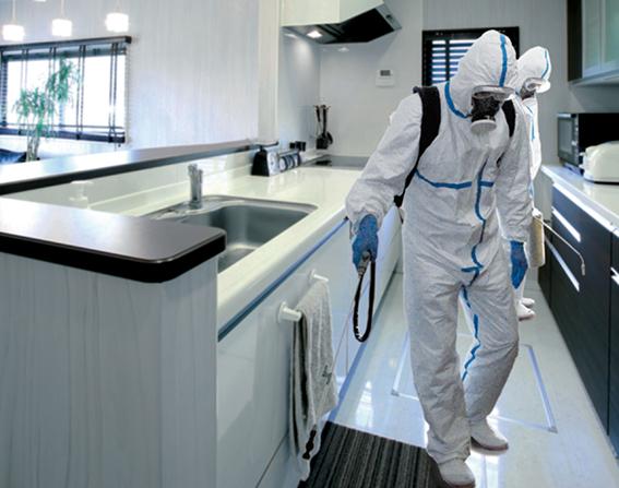 ショールームの殺菌消毒